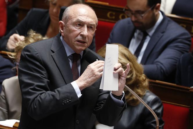 Le ministre de l'intérieur, Gérard Collomb, à l'Assemblée nationale, le 13 mars.
