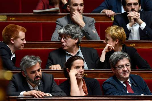 Des députés de La France insoumise, le 4 avril 2018 à l'Assemblée nationale.