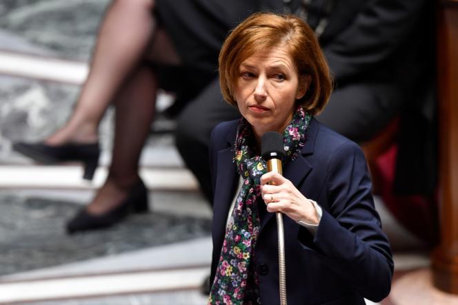 Florence Parly, la ministre des armées, lors de la session de questions au gouvernement, mercredi 4 avril, à Paris.