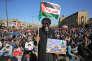 Des partisans de Moqtada Al-Sadr manifestent contre la reconnaissance par les Etats-Unis de Jérusalem comme capitale d'Israël, à Bagdad, le 8 décembre 2017.
