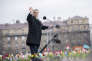 Le premier ministre hongrois Viktor Orban s'adresse à la foule, à Budapest, le 15 mars.
