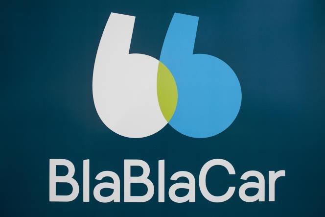 Le nouveau logo de Blablacar, dont le site a enregistré, mardi 3 avril, un pic d'offre de sièges multiplié par trois par rapport à un mardi normal, du fait de la grève à la SNCF.