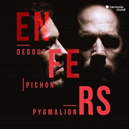 Pochette de l'album« Enfers», avecStéphane Degout (baryton) et l'Ensemble Pygmalion, dirigé par Raphaël Pichon.
