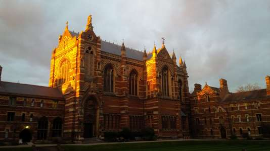 Vue de l'université d'Oxford, au Royaume-Uni
