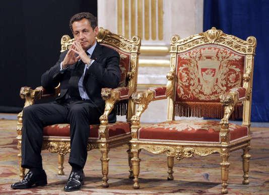 Nicolas Sarkozy à la Mairie de Paris en 2007.