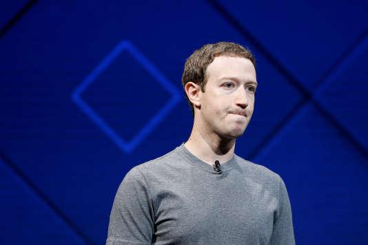 Mark Zuckerberg, le fondateur de Facebook, à San José (Californie), en avril 2017.