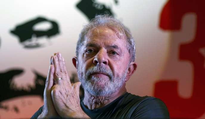 L'ancien président brésilien Lula, à Sao Paulo, le 22 février.