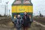 Christian Tosolini, retraité cheminot et son fils Fabian Tosolini, secrétaire général adjoint de la CFDT Transport, à Somain (Nord), le 19 mars 2018.