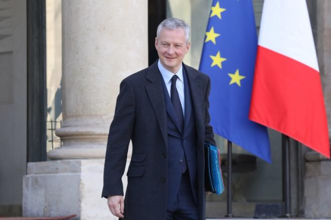 Bruno Le Maire, à l'Elysée, le 28 février.Le ministre de l'économie a affiché clairement son intention de privatiser la Française des jeux, mercredi 4 avril.