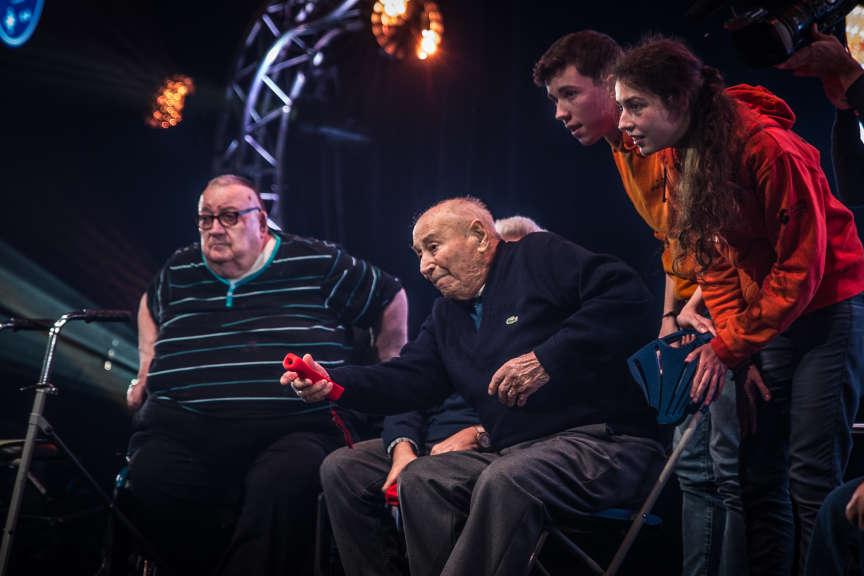 A 94 ans, André est le doyen de la compétition.
