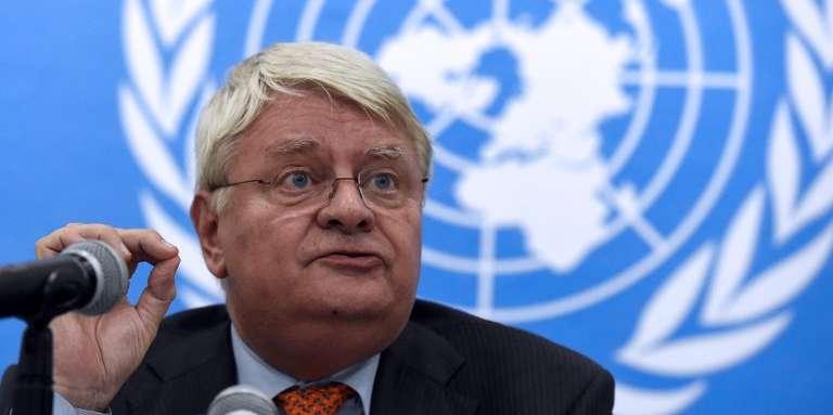 Le diplomate français Hervé Ladsous, à Bangui, en Centrafrique, en mai 2014.