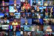 Saisie d'écran du montage vidéo montrant 30 des 66 présentateurs du Sinclair Broascast Group prononçant le même communiqué, fin avril.