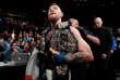 Le 13 novembre 2016, l'Irlandais Conor McGregor après son K.-O. sur Eddie Alvarez à New York.