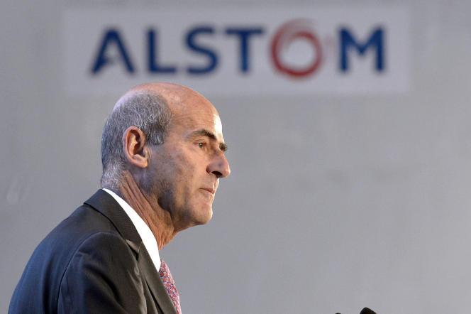 Patrick Kron, ex-PDG du groupe français Alstom, en décembre 2014.