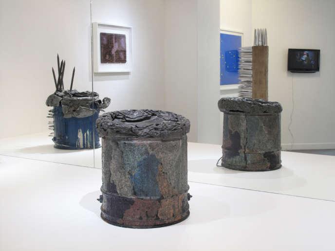 Vue d'ensemble de l'exposition de Daniel Pommereulle (Estate),«Je traverse et nous restons…» à la galerie Christophe Gaillard.