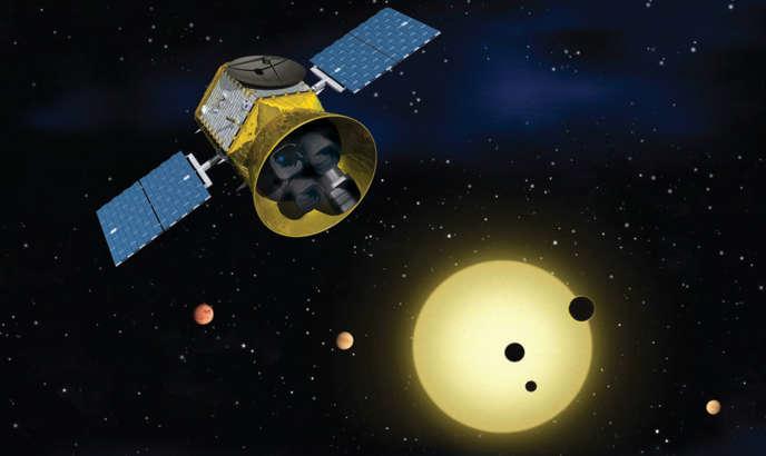 Vue d'artiste du satellite TESS qui, après son lancement prévu mi-avril, devrait découvrir des milliers de planètes extra-solaires.