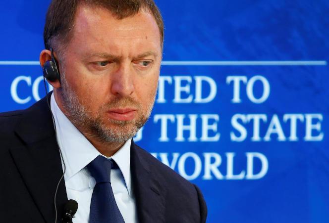 Le magnat russe de l'aluminium, Oleg Deripaska, à Davos (Suisse), en janvier 2016.
