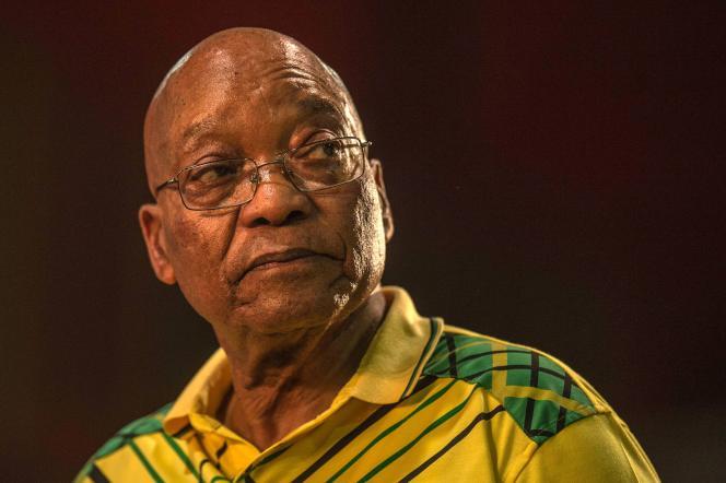 Jacob Zuma, le 16 décembre 2017 lors d'un congrès de l'ANC (Congrès national africain) à Johannesburg.