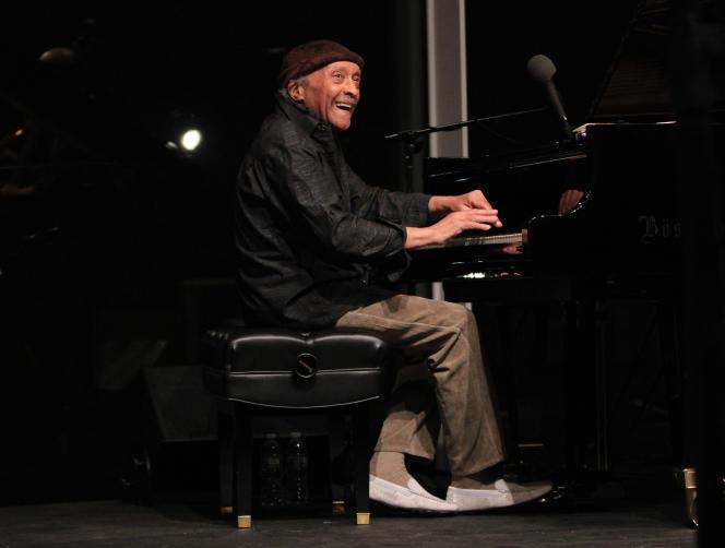 Le pianiste Cecil Taylor, au Museum of American Art à New York, le 14 avril 2016.