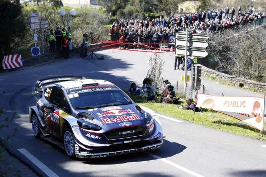 Sébastien Ogier a pris le contrôle du Tour de Corse dès vendredi 6 avril.