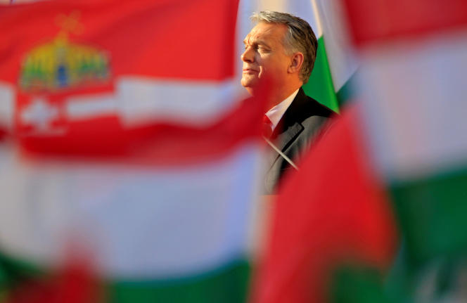 Le premier ministre hongrois, Viktor Orban, àSzekesfehervar, le 6 avril.
