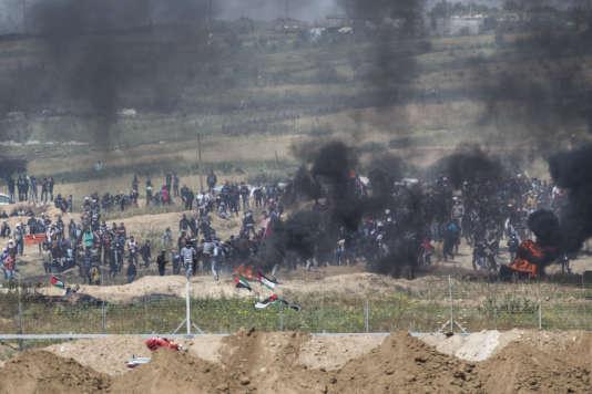 La frontière israélo-palestinienne à la hauteur du kibboutz de Nahal Oz, le 6avril,