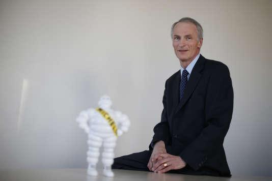 Jean-Dominique Senard, présidentde Michelin,le 4 décembre 2015à Boulogne-Billancourt (Hauts-de-Seine) .THOMAS SAMSON / AFP
