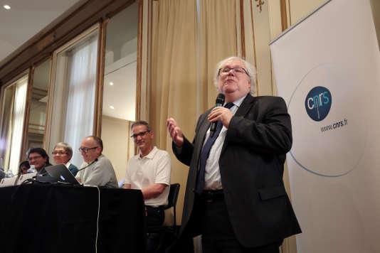 Alain Fuchs, alors président du CNRS, en 2016.