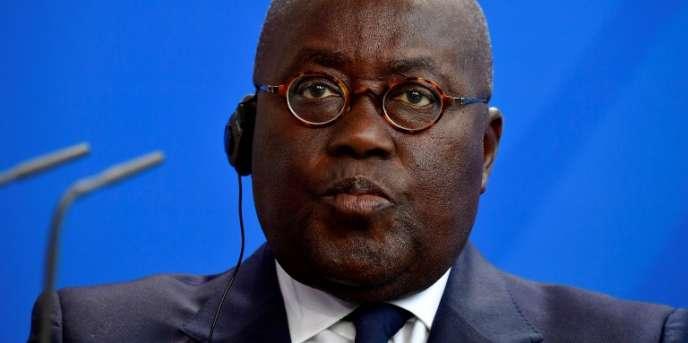 Le président ghanéen, Nana Akufo-Addo, à Berlin, le 28février 2018.