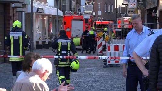 Un périmètre de sécurité a été installé dans le centre-ville de Münster.