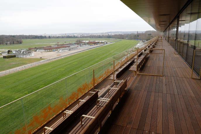 L'hippodrome de Longchamp, le 22 mars.