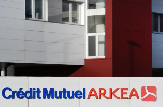 Le Crédit mutuel Arkéa à Relecq-Kerhuon, dans le Finistère, le 19 janvier.
