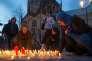 A Münster, le 8 avril, des bougies sont allumées en hommage aux trois victimes de la voiture qui, la veille, a foncé dans la foule.