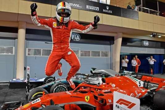 Pour son 200e Grand Prix, Sebastian Vettel décroche la victoire à Bahreïn le 9 avril.