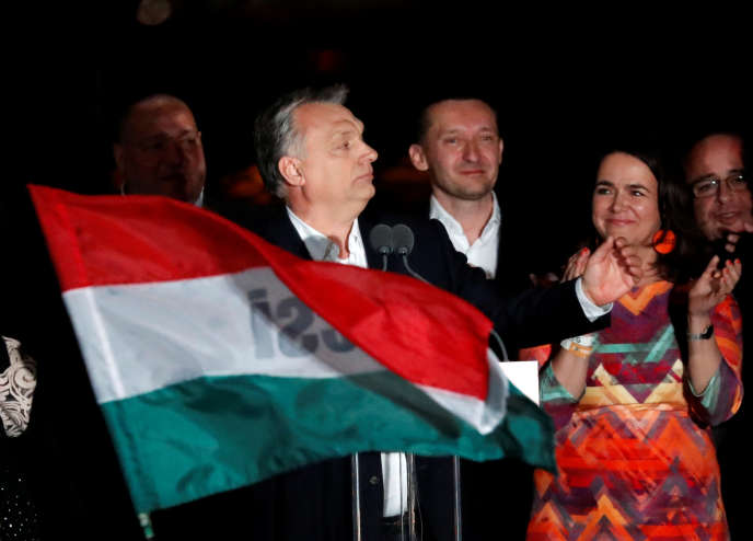 Viktor Orban, le premier ministre hongrois, à Budapest le 8 avril 2018, après sa victoire aux législatives.