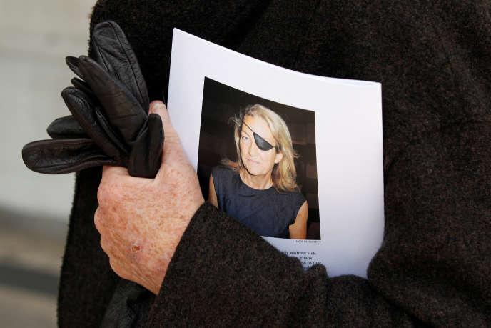 Lors d'un hommage à Marie Colvin, en 2012 à Londres.