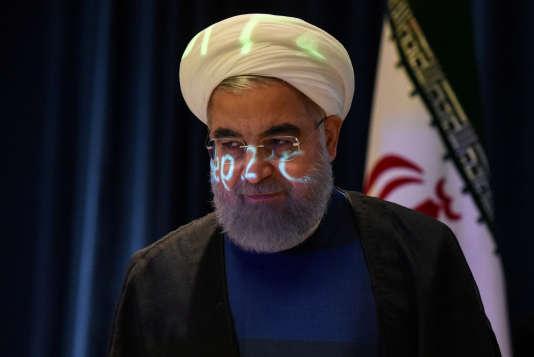 « L'Iran ne violera pas l'accord nucléaire mais si les Etats-Unis se retirent de cet accord, ils le regretteront certainement. Notre réponse sera plus ferme qu'ils ne l'imaginent et ils le constateront en moins d'une semaine », a prévenu leprésident iranien, Hassan Rohani –ici le 20 septembre 2017 à New York.