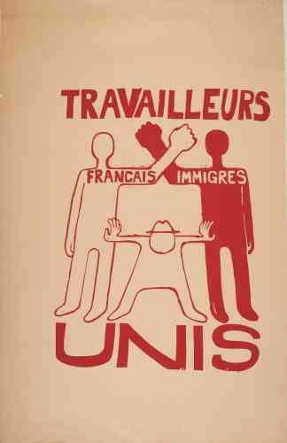 «Rappelons que, dans le cortège des manifestants, il y a aussi des immigrés. On est six ans après la fin de la guerre d'Algérie: le sujet reste sensible. C'est une affiche efficace dans sa composition et son message. Elle est très post-coloniale.»