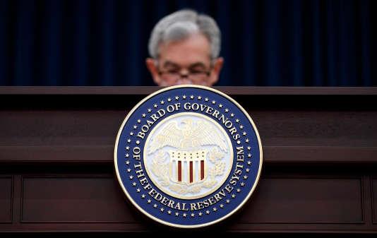 Jerome Powell, le président de la Federal Reserve américaine. A Washington, le 21 mars.