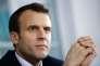 Emmanuel Macron, au CHU de Rouen, le 5 avril.