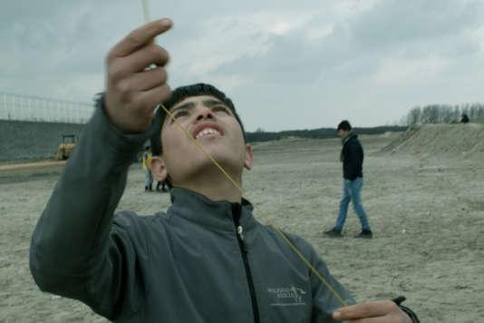 L'un des personnages de «L'Héroïque Lande», un documentaire de Nicolas Klotz et Elisabeth Perceval, tourné à Calais de janvier 2016 à février 2017.
