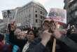 « On en a assez» ont crié 5 000 Tchèque réunis sur laplace Venceslas à Prague, lors d'une manifestation à l'encontre de leur premier ministre Andrej Babis, le 9 avril 2018.