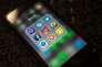 Applications de médias sociaux sur l'écran d'un téléphone portable.