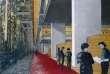 Bibliothèque nationale de France, déambulatoire du rez-de-jardin, collage papier-bois, plexiglas, photocopie et pastel, 1991.