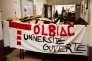 Dans les couloirs du campus de Tolbiac (université Paris-I), le 4 avril.