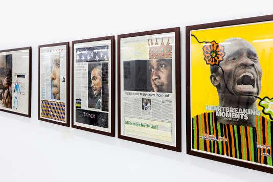 «Negative Positives, The Guardian Series» (2007-2016), qui explore la place de la diaspora africaine dans la société britannique.
