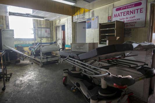 Le service de maternité du CHU de Pointe-à-Pitre, en attente de travaux après l'incendie du 26 novembre 2017.