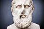 Buste du philosophe grec Zénon de Citium exposé à la Glyptothèque Ny Carlsberg de Copenhague.