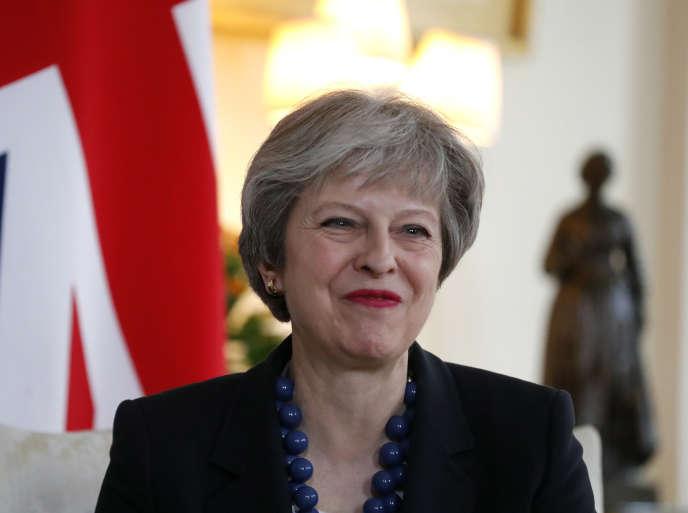 La première ministre britannique, Theresa May, le 10 avril.