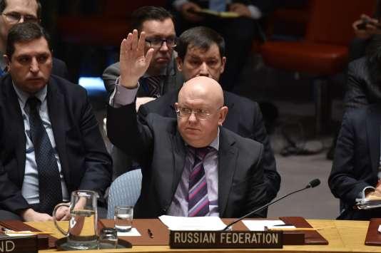 Le représentant russe à l'ONU,Vassily Nebenzia, le 10 avril.